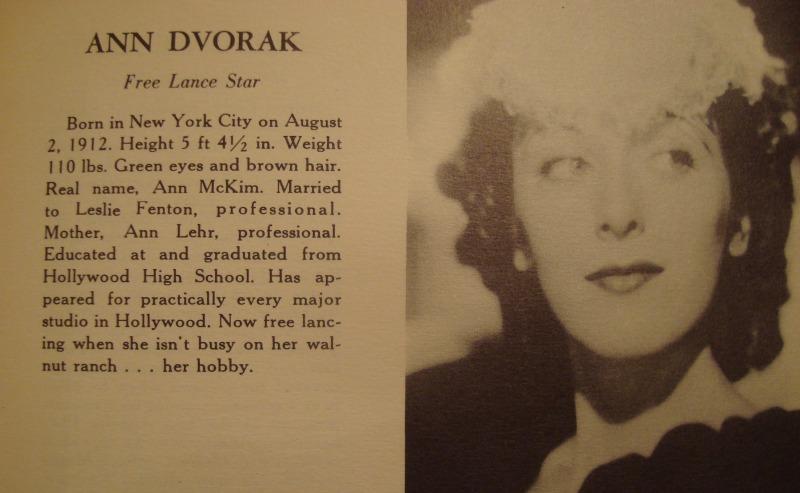 Ann Dvorak 1939