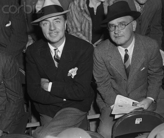 William Powell Posing with Myron Selznick