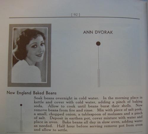 ann dvorak recipe 1932