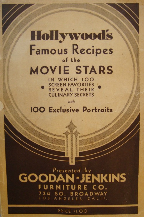 hollywood's famous recipes