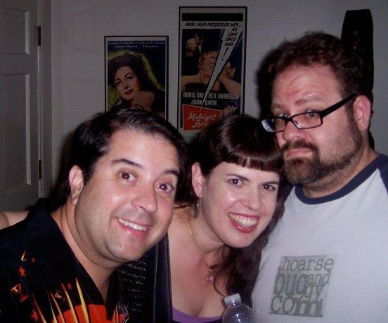 """Tony, me, and the hubby at """"I'll Cry Tomorrow"""" movie night."""