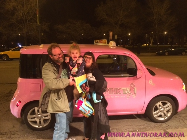 It's quite possible that my daughter's favorite part of the entire trip to Chicago was the pink taxi we took from Park Ridge to Lincoln Park.